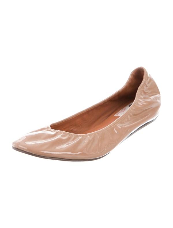 Lanvin Patent Leather Ballet Flats Shoes LAN63558