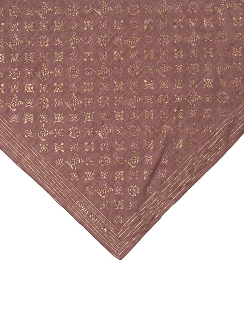 Louis Vuitton Metallic Monogram Bandana  Accessories