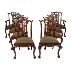 Maitland Smith Dining Chairs Tufted Chair And A Half Set Of Eight Furniture