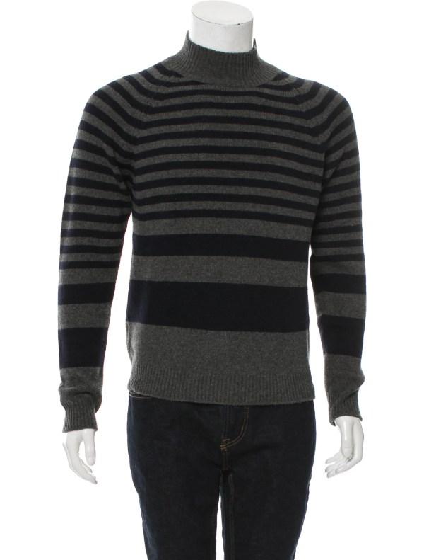 Marni Wool Striped Turtleneck Sweater - Clothing