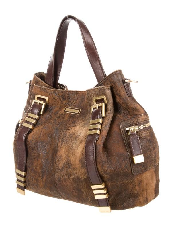 Michael Kors Distressed Leather Tote - Handbags Mic49932