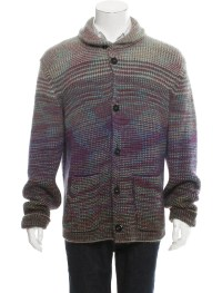 Missoni Chunky Knit Shawl Collar Cardigan - Clothing ...