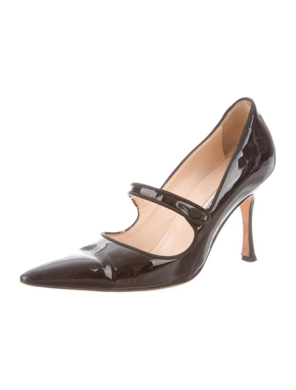 Manolo Blahnik Pointed-toe Mary Jane Pumps - Shoes