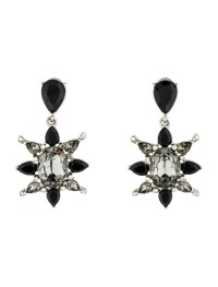 Oscar de la Renta Crystal Drop Earrings