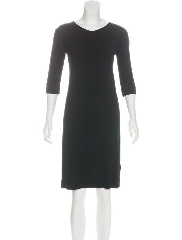 0a7f28a89a5 20+ Black Quarter Sleeve Knee Legth Dress Pictures and Ideas on Meta ...
