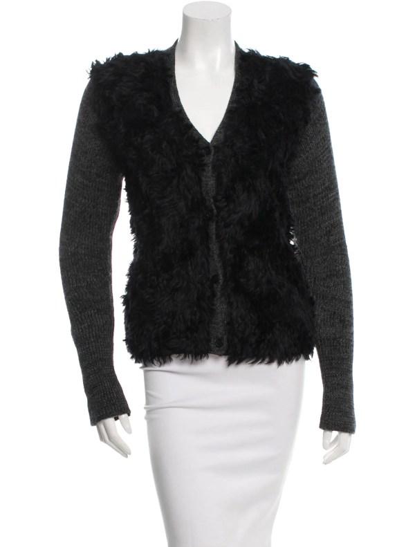 Faux Fur Cardigan Sweaters
