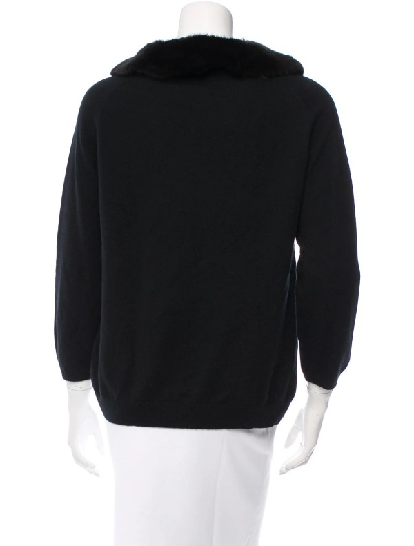 Sweater with Fur Trim Sleeves