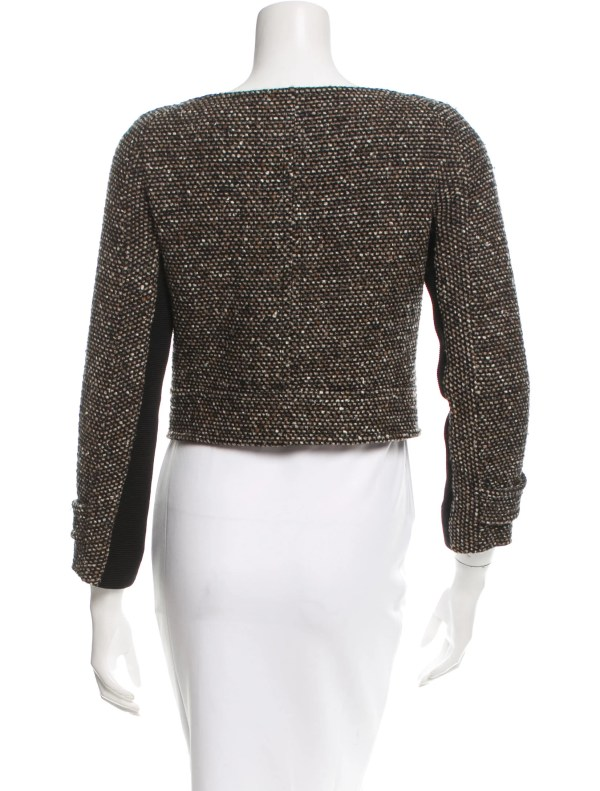 Proenza Schouler Cropped Tweed Jacket - Clothing Pro30193 Realreal