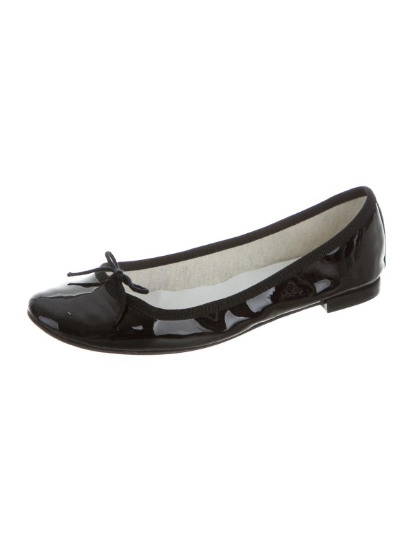 Repetto Patent Leather Ballet Flats Shoes REP21119