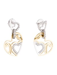 Roberto Coin Diamond Heart Drop Earrings - Earrings ...