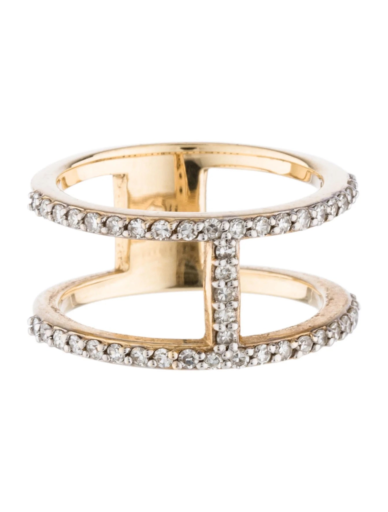 14k Diamond Cage Ring Band  Rings  Rring31916  The Realreal
