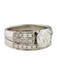 Platinum Diamond Wedding Set Ring - Rings - RRING34533 ...