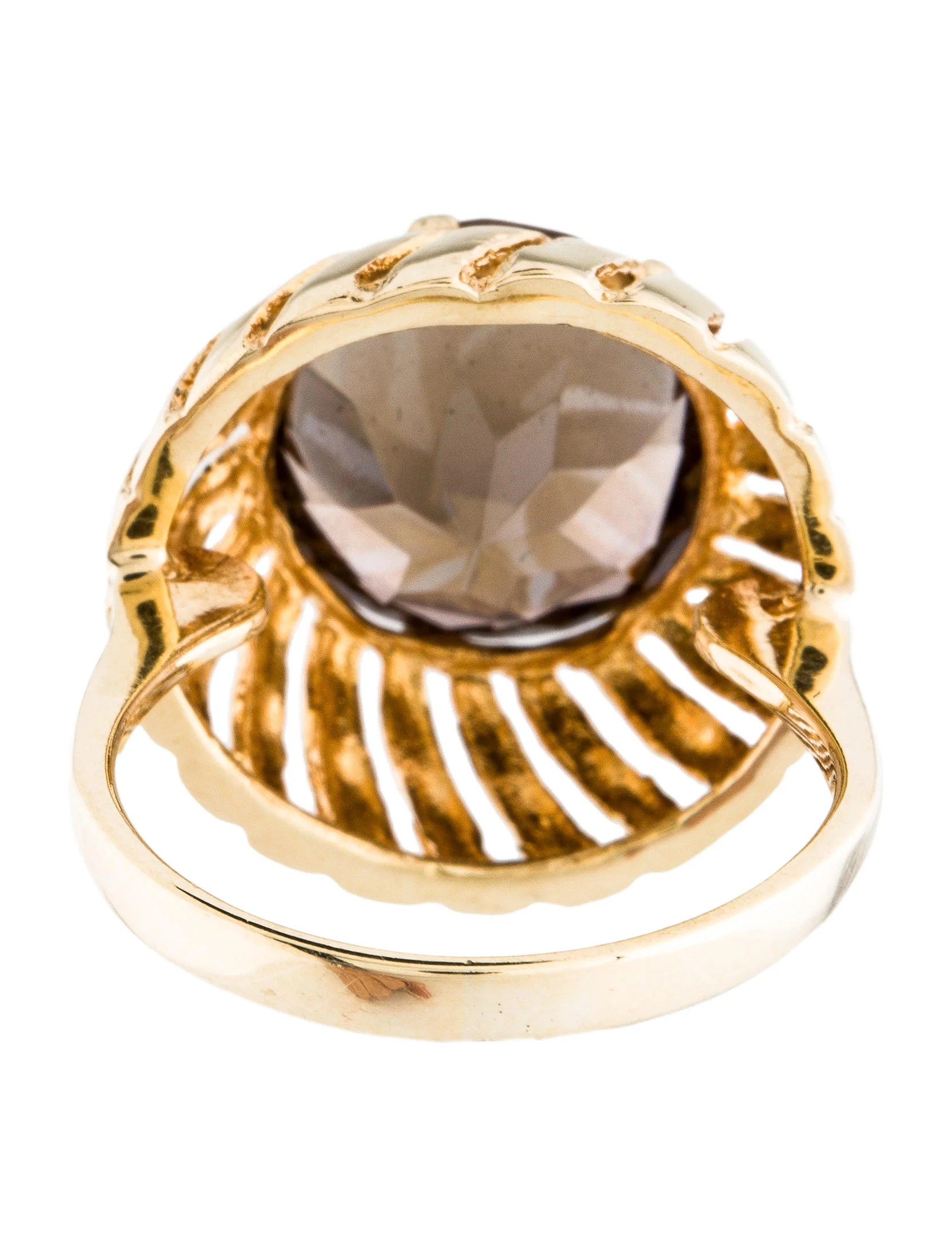 round card table and chairs luxury accent 14k smoky quartz ring - rings rring34917 | the realreal