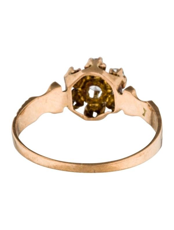 10k Diamond Cluster Ring - Rings Rring35372 Realreal
