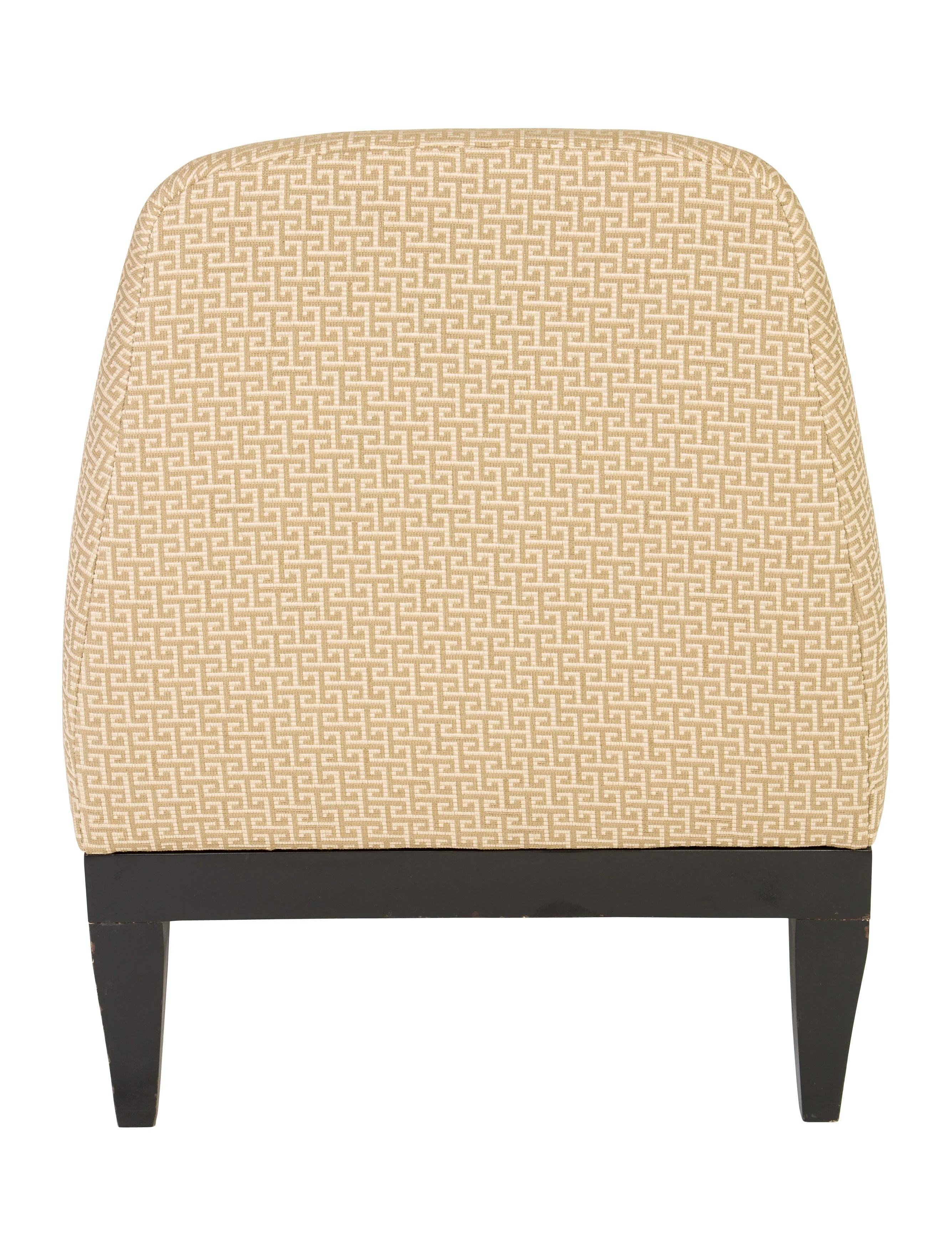 upholstered slipper chair lucite office on wheels raul carrasco furniture