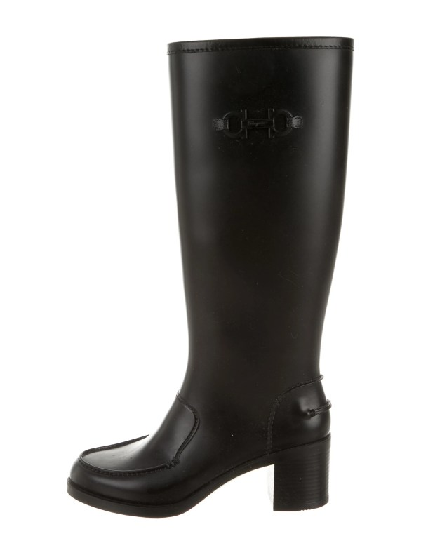 Salvatore Ferragamo Clarisa Rain Boots - Shoes Sal39271 Realreal
