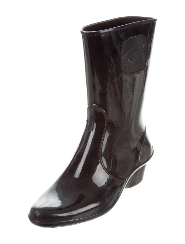 Salvatore Ferragamo Mid-calf Rain Boots - Shoes Sal43711 Realreal