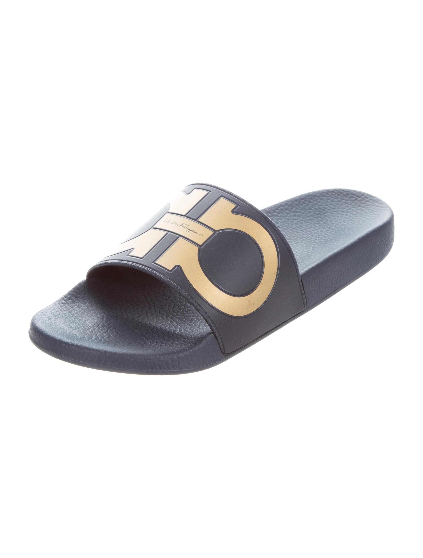 Salvatore Ferragamo Gancini Slide Sandals Shoes