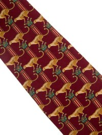 Salvatore Ferragamo Cheetah Print Silk Tie - Suiting ...