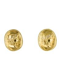 Seidengang 18K Diamond Cameo Clip-On Earrings - Earrings ...