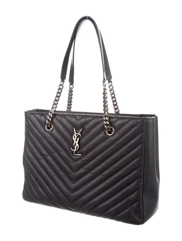 Saint Laurent 2015 Chevron Quilted Monogram Bag - Handbags