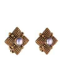Stephen Dweck Pearl Clip On Earrings