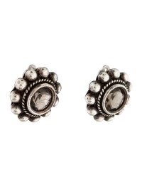 Stephen Dweck Quartz Clip On Earrings