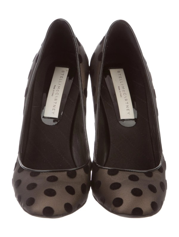 Stella Mccartney Mesh Polka Dot Pumps - Shoes Stl42534