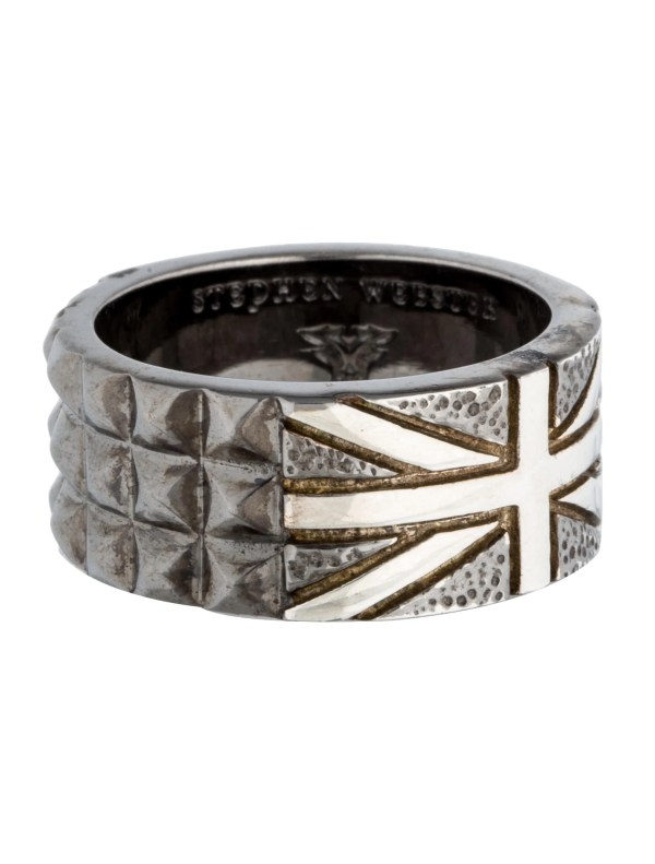 Stephen Webster Alchemy In Uk Onyx Union Jack Ring