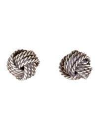 Tiffany & Co. 18K Twist Knot Earrings - Earrings ...