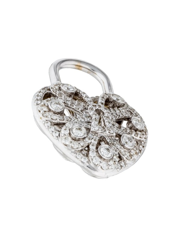 Tiffany & . 18k Diamond Enchant Heart Lock