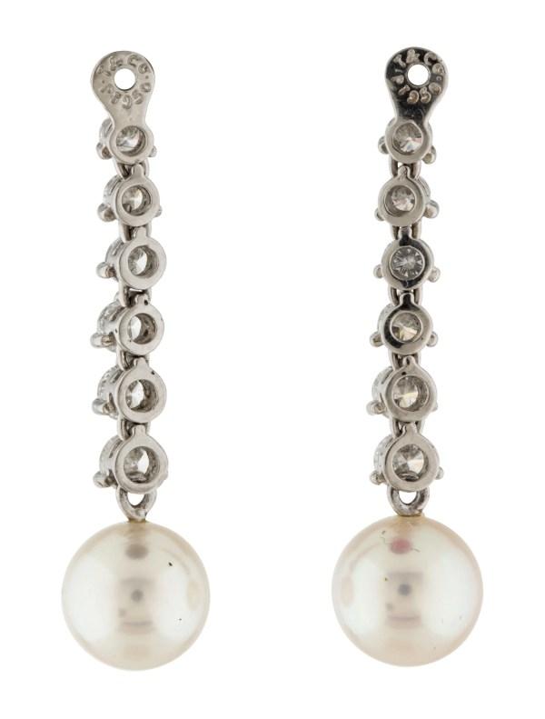 Pearl Diamond Earrings with Jackets