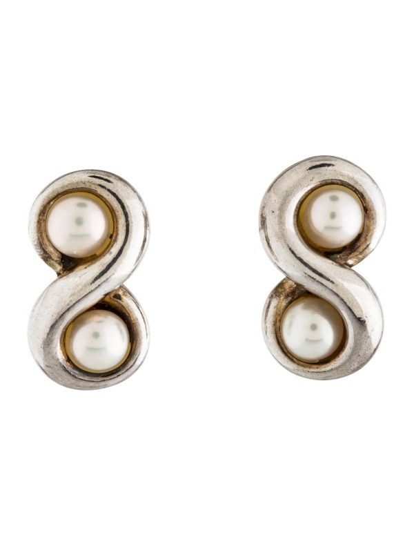 Tiffany Infinity Pearl Earring