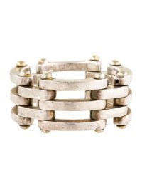 Tiffany & Co. Two-Tone Gate Link Ring - Rings - TIF55705 ...