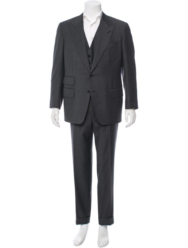 Tom Ford Wool Three-piece Suit - Clothing Tom25580 Realreal