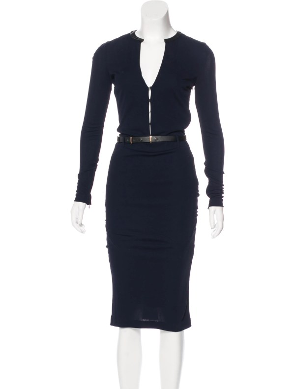 Tom Ford Long Sleeve Belted Dress - Clothing Tom37213 Realreal
