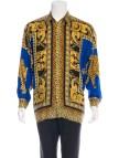 Versace Baroque Silk Shirts Men