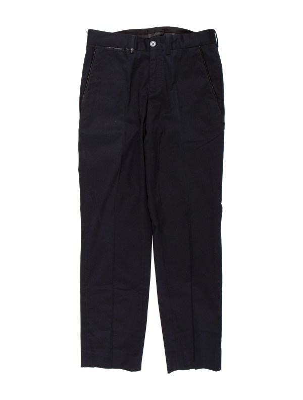 Versace Flat Front Twill Pants - Clothing Ves36074