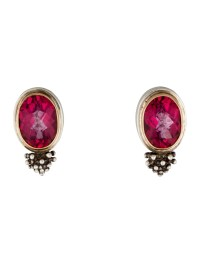 Michael Dawkins Pink Topaz Earrings