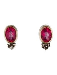 Michael Dawkins Pink Topaz Earrings - Earrings - W8Q20164 ...