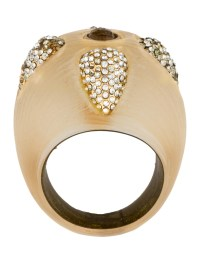 Alexis Bittar Crystal Lucite Dome Ring
