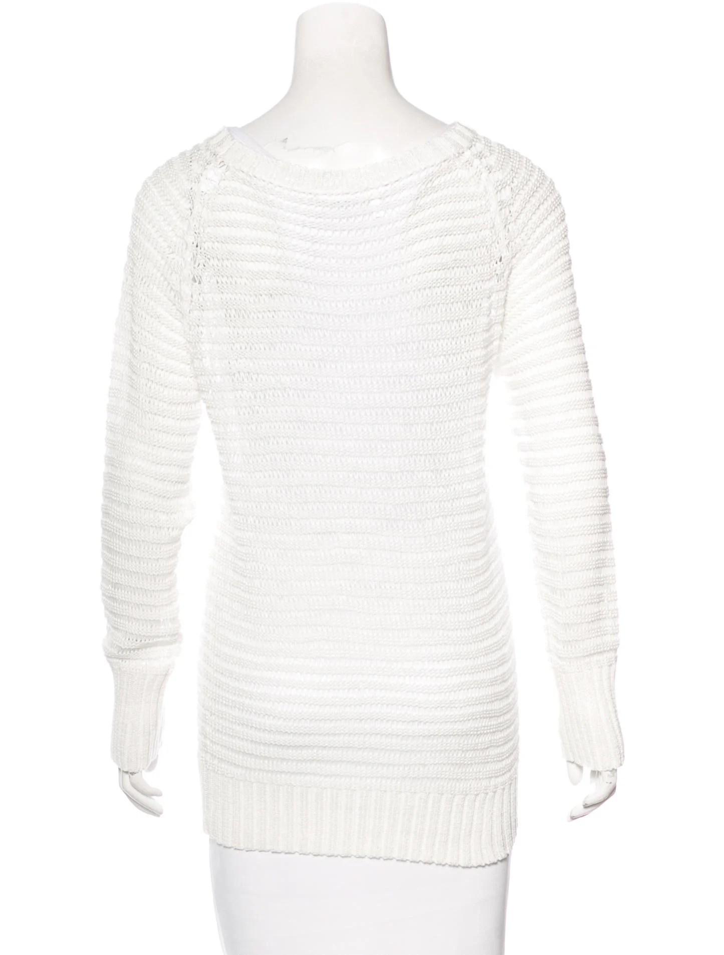 Derek Lam 10 Crosby Open Knit Long Sleeve Sweater