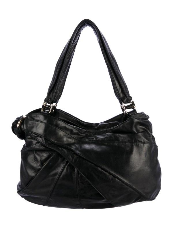 Kooba Pleated Leather Shoulder Bag - Handbags Wkb20031