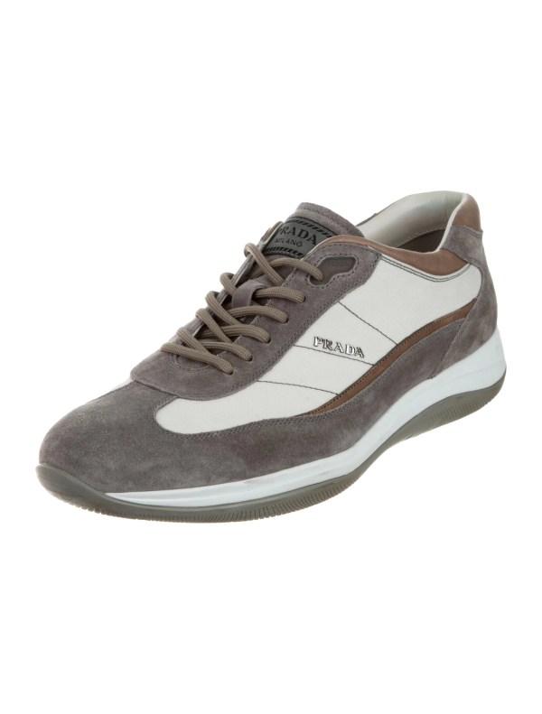 Prada Sport Suede Logo Sneakers - Shoes Wpr40673