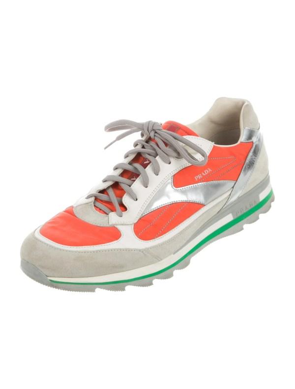 Prada Sport Colorblock Suede Sneakers - Shoes Wpr40725