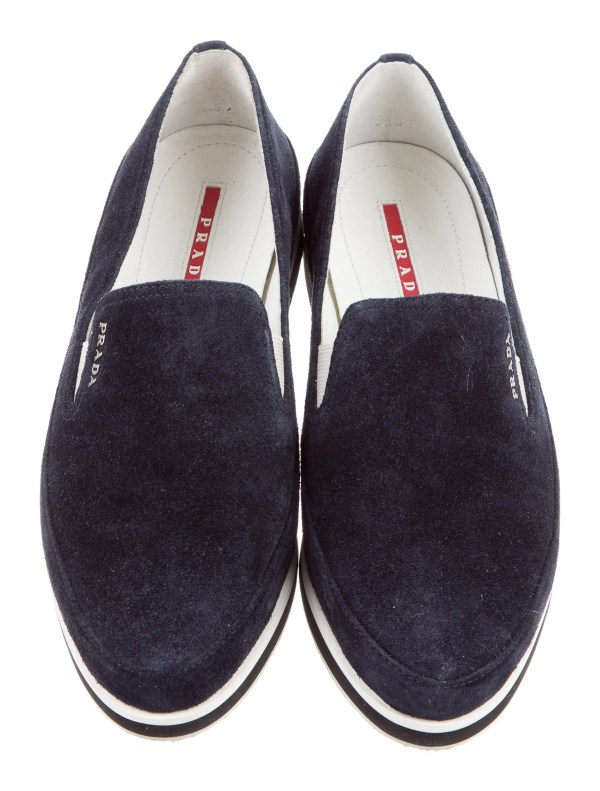 Prada Sport Suede Slip- Sneakers With Tags - Shoes