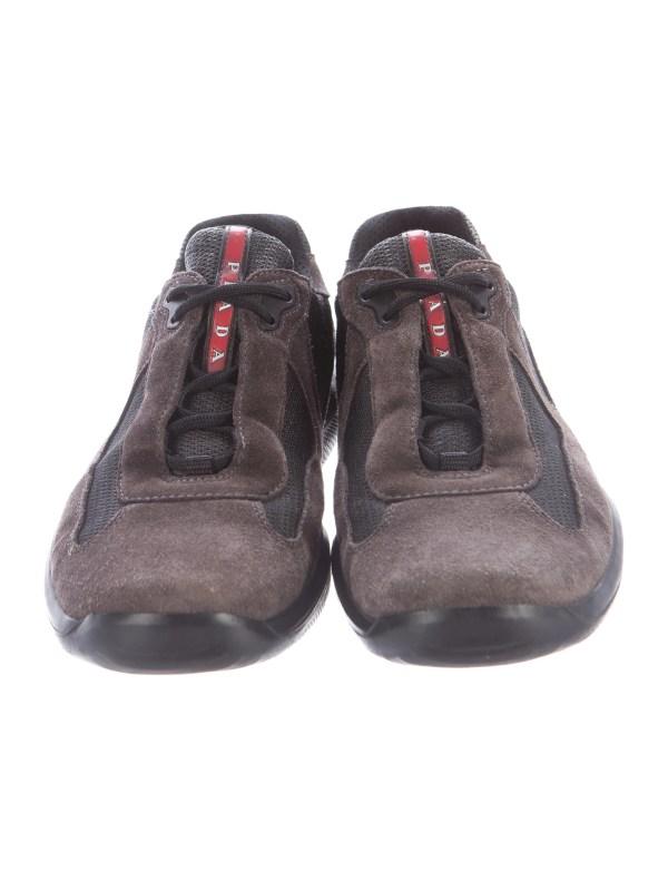 Prada Sport America' Cup Suede Sneakers - Shoes