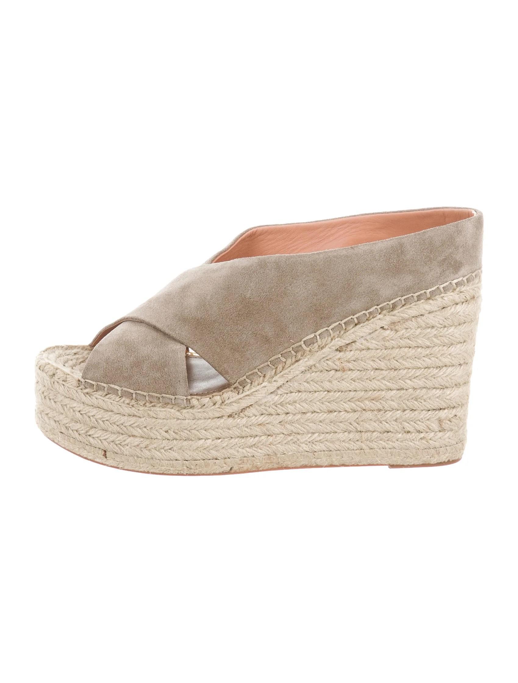 Sigerson Morrison Espadrille Wedge Sandals Shoes
