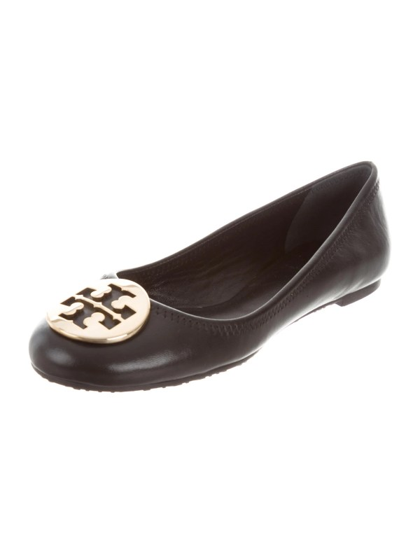 Tory Burch Leather Reva Flats - Shoes Wto108214