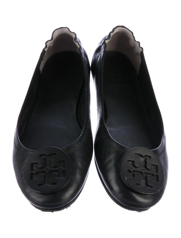 Tory Burch Reva Leather Flats - Shoes Wto109142